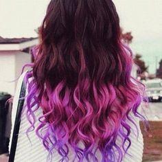 Image via We Heart It https://weheartit.com/entry/157732734/via/29738922 #curly #hair #purple