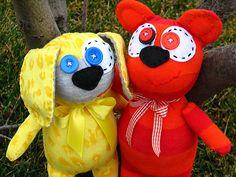 sock monster - dog & bear