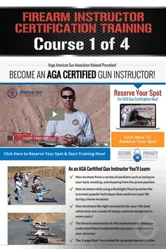 Firearm Instructor Certification Training Course Part 1 of 4 (HANDGUN DRILLS) | How To Become A Gun Instructor, Where To Operate, Shooting Lesson & Techniques By Gun Carrier http://guncarrier.com/firearm-instructor-certification-training-course-part-1/