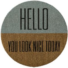 Welcome guests in style with this door mat.