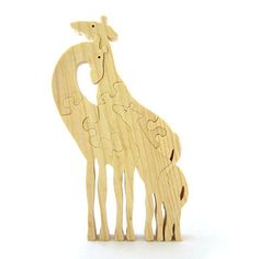 Giraffes puzzle  Wooden Giraffes Puzzle Eco friendly by Dimppetto, €12.00