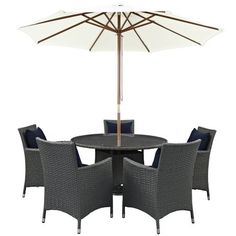 Long Lasting Sunbrella® Fabric Synthetic Rattan Weave Powder Coated Aluminum Frame