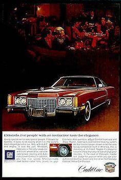 Cadillac Eldorado 2 Door Hardtop Automobile1972 Photo Ad