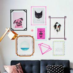 """La decoración del hogar o la oficina tiene alternativas muy amplias. Sin embargo, muchas de ellas suponen el uso de clavos, tornillos y todo tipo de elementos que dañan las paredes. Ahora, con los """"washi tapes"""", todo cambió."""
