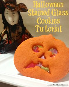 Stained Glass Cookies for Halloween - fun tutorial from a creative pastry chef!