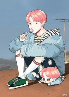 Eu to amando estas fanarts de Spring day
