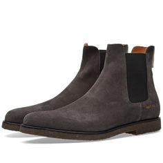 Buy the Common Projects Chelsea Boot in Black Suede from leading mens fashion retailer END. - only Fast shipping on all latest Common Projects products Chelsea Boots Heel, Chelsea Boots Style, Chelsea Shoes, Black Chelsea Boots, Mens Shoes Boots, Men's Shoes, Shoe Boots, Dress Shoes, Common Projects Chelsea Boots