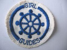 VINTAGE GIRL GUIDES AUSTRALIA SEA RANGER COXSWAIN CLOTH BADGE | eBay