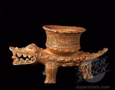 Alligator Effigy Vessel c. 800-1525 A.D. Chorotega, Costa Rica Ceramic Pre-Columbian Collection of The Museum of Contemporary Art, Jacksonville, Florida - Ceramics II lesson idea
