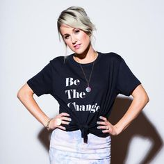 "Grab the ""Be The Change"" tee, available now in the Britt Nicole store! <3 #ootd #style #fashion #brittnicole"