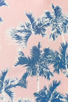 Palm tree print on pink.