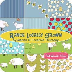 Range Locally Grown Fat Quarter Bundle Marisa & Creative Thursday for Andover Fabrics - Fat Quarter Shop