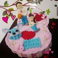 Stitch and couple cakes