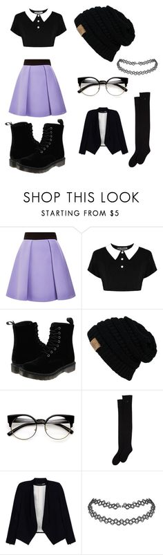 """""""goth nerd look"""" by ciaralanger ❤ liked on Polyvore featuring FAUSTO PUGLISI, Dr. Martens and Alice + Olivia"""