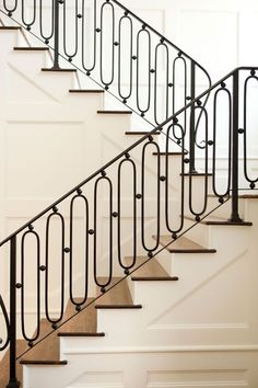 Metal railing, shaped baluster, dark tread