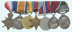 A great group of WW1 and WW2 medals