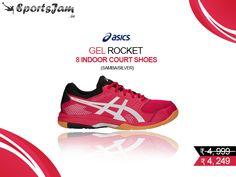 Order Asics Gel Rocket 8 Indoor Court Shoes (Samba/Silver) With COD at SportsJam. Yonex Badminton Shoes, Court Shoes, Samba, Asics, Cod, Indoor, Sneakers, Silver, Stuff To Buy