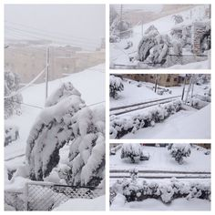 Snow in Amman Jordan