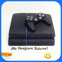 (at Simosi Cake (Pelin. Video Game Cakes, Video Game Party, Ps4 Cake, Playstation Cake, Birthday Cake Gift, Super Mario Party, Sweet Cooking, Gamer Gifts, Cakes For Boys