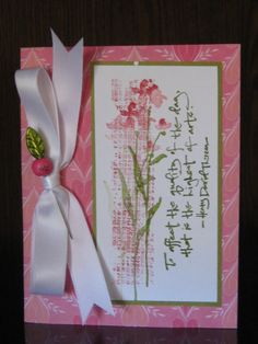 su the art of life. Some RED! by jdmommy - Cards and Paper Crafts at Splitcoaststampers Stampin Up Christmas, Christmas Cards, Asian Cards, Hand Stamped Cards, Stamping Up, Flower Cards, Cute Cards, Creative Cards, Stampin Up Cards