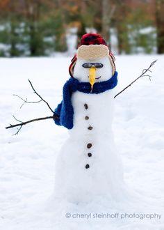 banana-nose snowman