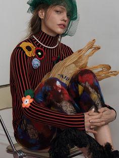 Sasha Pivovarova by Roe Ethridge for AnOther Magazine wearing Christopher Kane Fall/Winter 2016