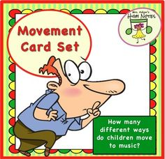Use this great set of picture cards, labels, and suggestions to give your K-1st graders a beginning foundation for meter and your older students an understanding of even/uneven beats. Just how many different ways can children move to music? Your students will use their