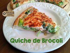 Quiche de brócoli casera, tarta salada sana sanísima si gustas con masa casera #ñam #receta #quiche #brocoli #tarta #veggie #verdura #casera