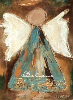 Custom hand drawn hand made cards original angel painting notecards Christmas cards on Etsy, $27.50