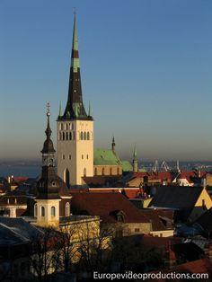 Casco antiguo de Tallinn en Estonia