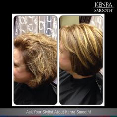 Book your Kenra Smooth appointment today!  *Work by Leslie Yuras at Rinner's Hairstyles
