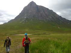 The start of the ascent into Buachaille Etive Mor