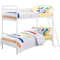 9 by Novogratz Berkshire Iron Twin/Twin Bunk Bed, Multiple Colors - Walmart.com