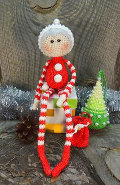 Hey, I found this really awesome Etsy listing at https://www.etsy.com/listing/205943975/art-doll-little-santa-claus-crochet-art