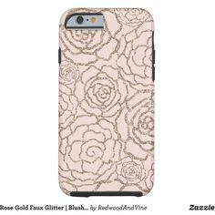 Blush Pink Floral Lattice Barely There iPhone 6 Case ($46) ❤ liked on Polyvore featuring accessories and tech accessories