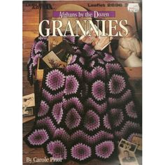 """Leaflet /""""Afghans by the Dozen Grannies/"""" Leisure Arts Gently Used Crochet"""