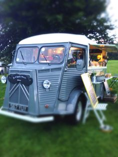 'Marcel' our French Citroen H Van with his new moustache