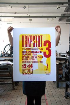DRUKOPSTRAAT 13-04.09.14 A collaborative project with Nathan De Corte (lithography), me (letterpress)