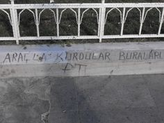 They constrcut with the vehicle to this place. / Taksim Square
