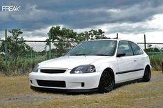 White Honda Civic