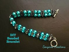 Jewelry making tutorial. White and black bracelets. DIY JEWELRY - YouTube