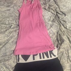Victorias Secret Pink bundle size medium tank fits like a small and yoga shorts size xs PINK Victoria's Secret Other