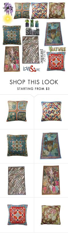 """""""Indian Ethnic home Decor"""" by boho-chic-2 ❤ liked on Polyvore featuring interior, interiors, interior design, home, home decor, interior decorating, tapestry, offer, cushioncover and tapetsry"""