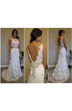 This is a hot sell wedding dress from our custom design category.Lace V Back Wedding Gown  $299 style code:10417 Get it here:http://www.outerinner.com/custom-design-lace-v-back-wedding-gown-pd-10417-50.html  #lacewedding #lace #weddingdress #outerinner