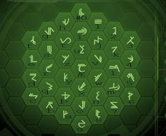 A new alphabet/ Pictograms that is the language for the forerunner race in the Halo series. Alphabet Code, Alphabet Symbols, Ancient Alphabets, Ancient Symbols, Morse Code Practice, Halo Master Chief, Picture Icon, Cultura General, Geocaching