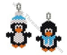 Penguin Earring Bead Pattern By ThreadABead