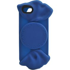 This blue Iphone cover was designed by the well known brand MARC BY MARC JACOBS.  It is constructed with silicone.