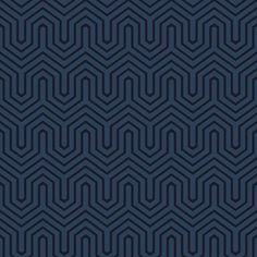 York- Ashford Geometrics- Labyrinth Flock Pearlescent Metallic Navy shop.wallpaperconnection.com