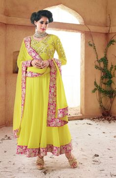 ₹ 4200 | BDT: 6950 | USD: 68$ | GBP: 47₤ Georgette unstitched anarkali with embroidery. Comes with as shown chiffon dupatta & bottoms Product code: TS3011 For orders send us a msg or call us:- India: +91 9003088880 (WhatsApp / Viber) Bangladesh: 01535417777 (WhatsApp / Viber) ✔ 100% original products. No replica