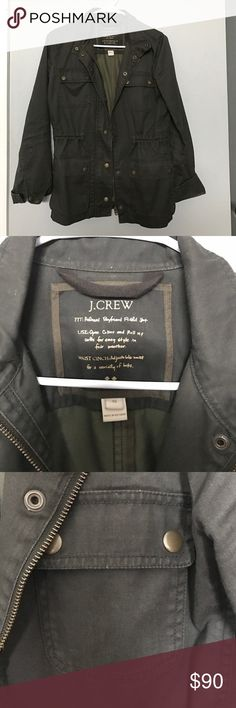 J. Crew Downtown Field Jacket J. Crew Downtown field jacket in army green color. Only worn a couple times and from a non-smoking home. I'm also selling this on Ⓜ️ercari. J. Crew Jackets & Coats Utility Jackets